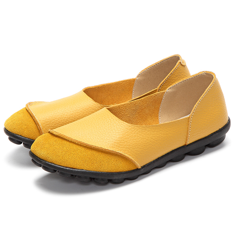 New Women Flats Shoes 2018 Spring Women Loafers Soft Cow Suede Flats Ladies Shoes Slip-On Flats Shoes Woman Footwear Size 35-43