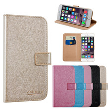 For PANASONIC ELUGA Y Business Phone case Wallet Leather Stand Protective Cover with Card Slot(China)