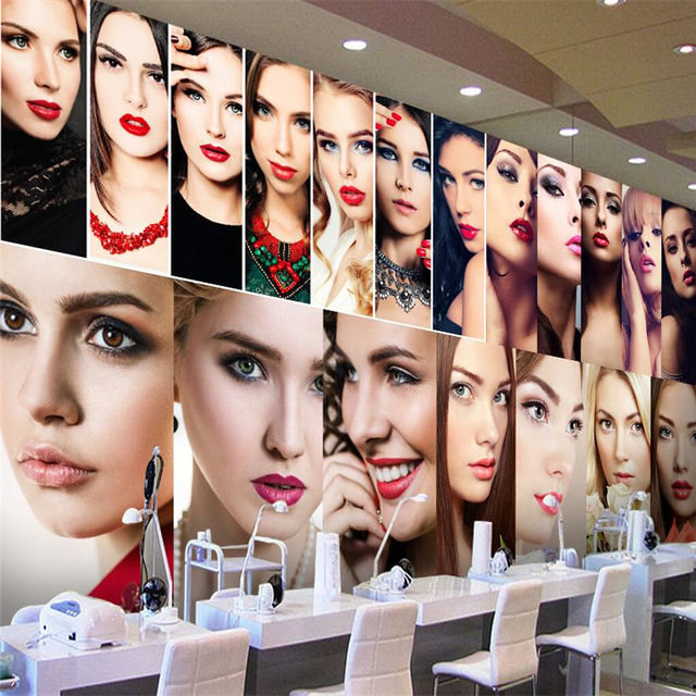 beibehang Customize any size wallpaper murals sexy beauty beauty cosmetics make-up shop tooling background wall wallpaper 3d