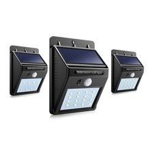 Светодиодный уличный светильник на солнечной батарее с датчиком движения, водонепроницаемая панель, ПИР, садовый декоративный светильник, Уличный настенный светильник s