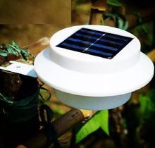Солнечные 3 светодиодное уличное освещение лампы для забора, водостоков крыши Двор Настенный светильник для сада наружного освещения светодиодный Солнечный свет