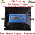 Latest GSM 2G 3G Repetidor Dual Band Booster Ganho Ajustar GSM Sinal de celular GSM Impulsionador GSM 900 MHz WCDMA 3G 2100 MHz amplificador