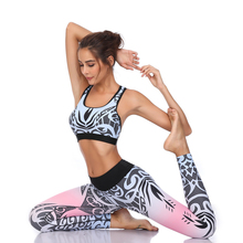 Fitness Yoga Set Sports Women Running Suit Push Up Leggings Wear Workout Gym Tight Slim Training