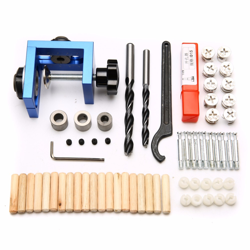 3 In 1 Woodworking Pocket Hole Jig Kit Step Drilling Dowelling Jig Set Carpentry Wood Dowel Drilling Guide Locator Tool new pocket hole jig drill guide hole positioner locator with clamp woodworking tool kit suitable for joining panel furniture