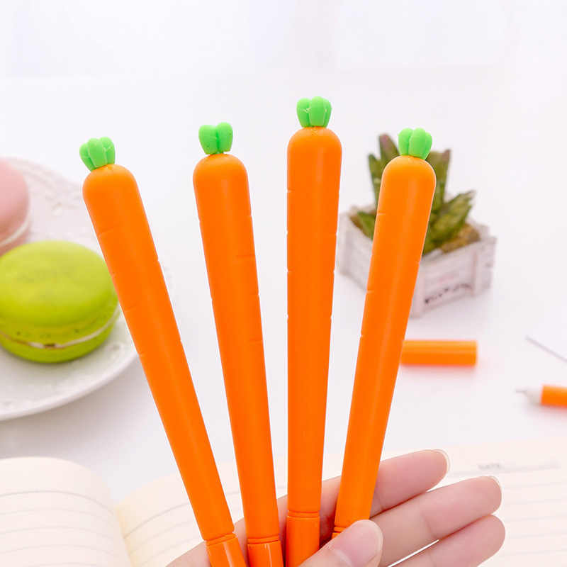 2019 new Simulation Carrots Gel Pens Student gel Ink Pen School Office Supplies Learning Stationery Wholesale