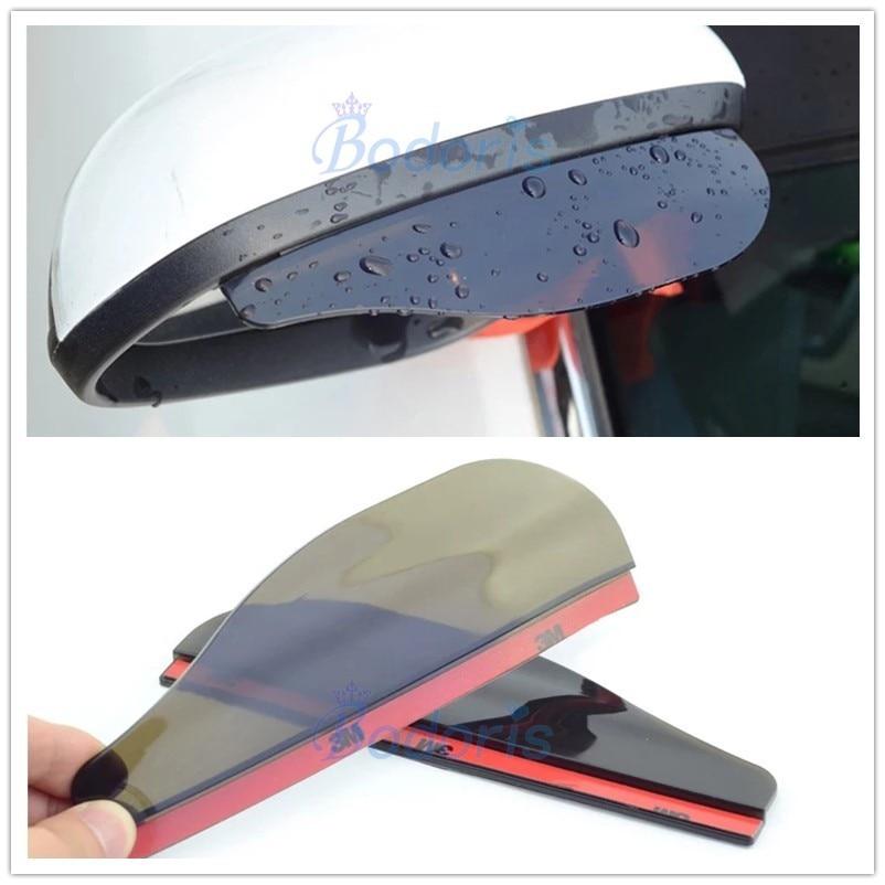 For Toyota LC 200 Land Cruiser Prado FJ 120 150 100 Rear View Rain Eyebrow Weatherstrip Auto Mirror Rain Shield Shade Guard