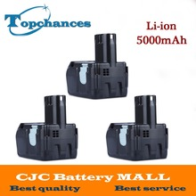 3X High Quality Power Tool Rechargeable Battery For Hitachi EBM1830 327730 BCL1815 DH18DL DS18DL DV18DL 18V 5000mAh Li-ion