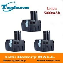 3X High Quality Power Tool Rechargeable Battery For Hitachi EBM1830 327730 BCL1815 DH18DL DS18DL DV18DL 18V 5000mAh Li-ion