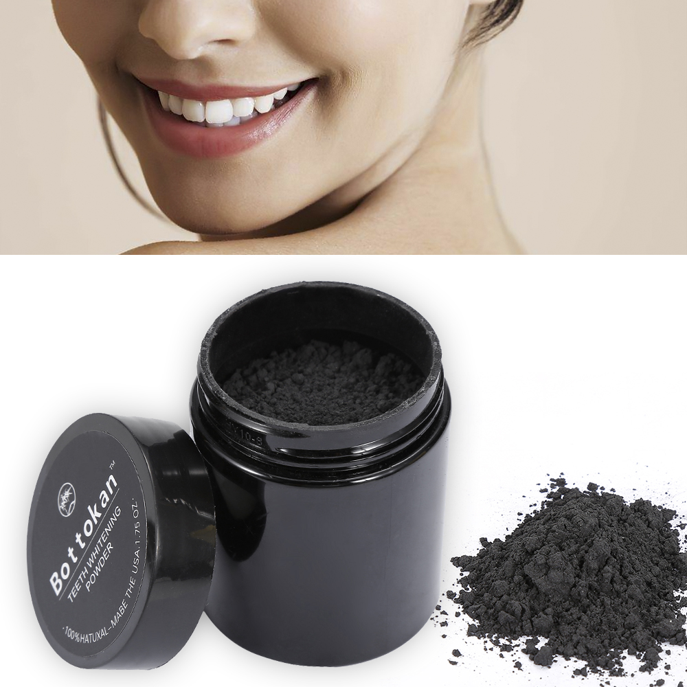 45g Charcoal Teeth Whitening Powder Organic Activated Bamboo Tooth Coconut Powder Nature Teeth Whitening Dental Oral Care TSLM2
