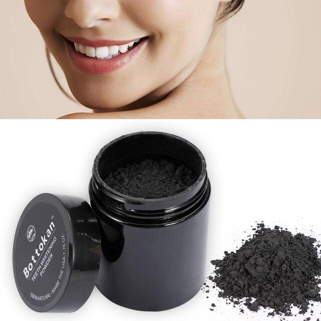 45g carbón dientes blanqueamiento en polvo orgánico activado de dientes bambú polvo de coco de la naturaleza Dental Cuidado Oral TSLM2
