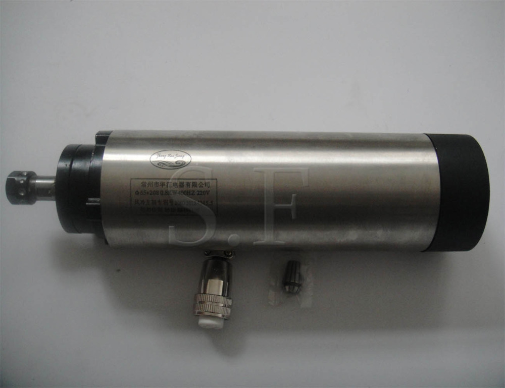 ER11 diameter 65mm 0.8KW,24000rpm air cooling spindle motor 4 bearing for cnc router cnc spindle 1 5kw gdz 80 1 5f air cooling spindle 220v 5a chuck nut er11 diameter 80mm 400hz 24000rpm use for cnc router machine