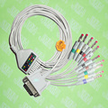 Compatible with Philips(HP) M1772A,M3703C, M2462A EKG 10 lead,One-piece ECG cable and leadwires,15PIN,4.0 red Banana,IEC or AHA.