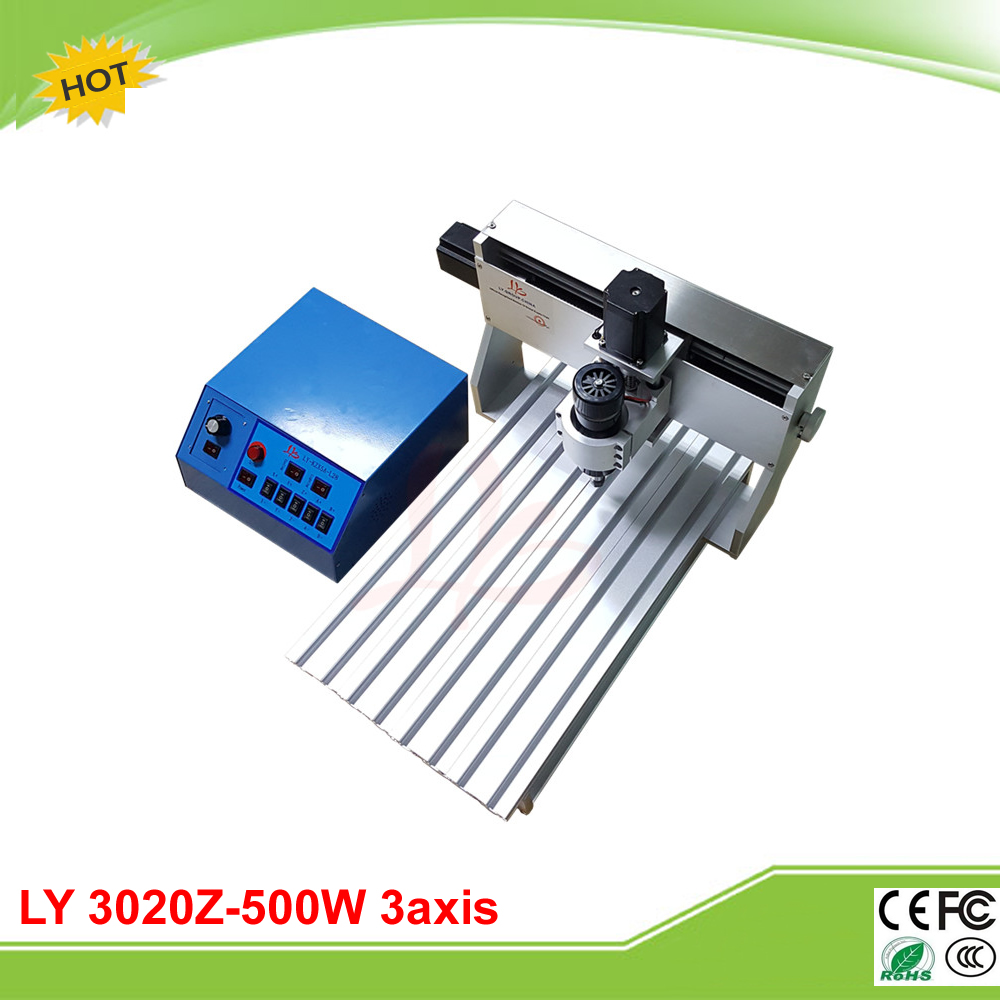 LY CNC 3020Z-500W 3axis DC spindle mini CNC milling machine lathe duty free to RU ly cnc router 3020 z d 500w spindle engraving machine with the limit switch small mini cnc milling machine