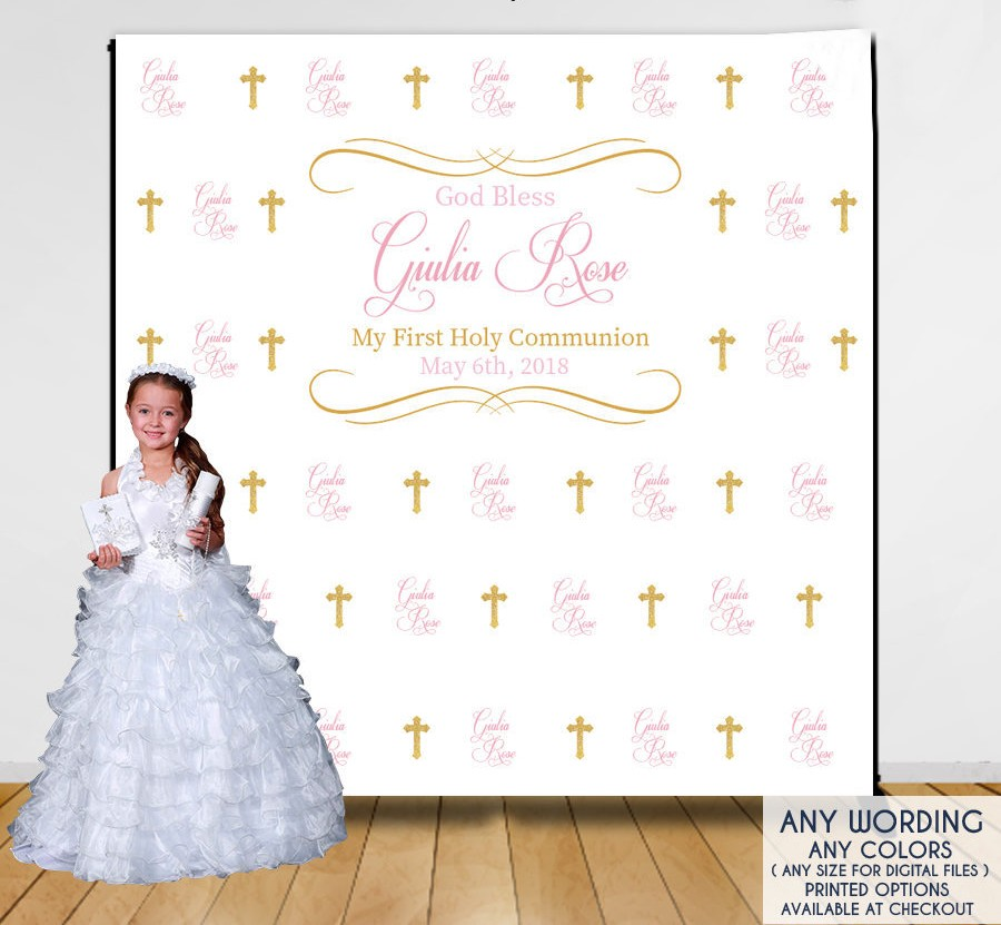 custom baby first birthday communion repeat photo backdrop High quality Computer print party photography studio background