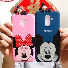Minnie Mickey Case Ultrathin Soft TPU Toy Cover for Samsung Galaxy J1 J2 J3 J4 J5 J6 J7 J8 Plus Prime Pro Core 2016 2017 2018 все цены