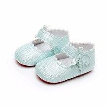 ARLONEET/Новые однотонные тонкие туфли для малышей; повседневная обувь с бантом для девочек; обувь с мягкой подошвой для начинающих ходить; обувь для девочек от 0 до 18 месяцев; Прямая поставка; 30S46