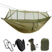 Сверхлегкий москитная сетка гамак Hamak качели спальный кровать мебель Портативный стул с ремешком и карабин