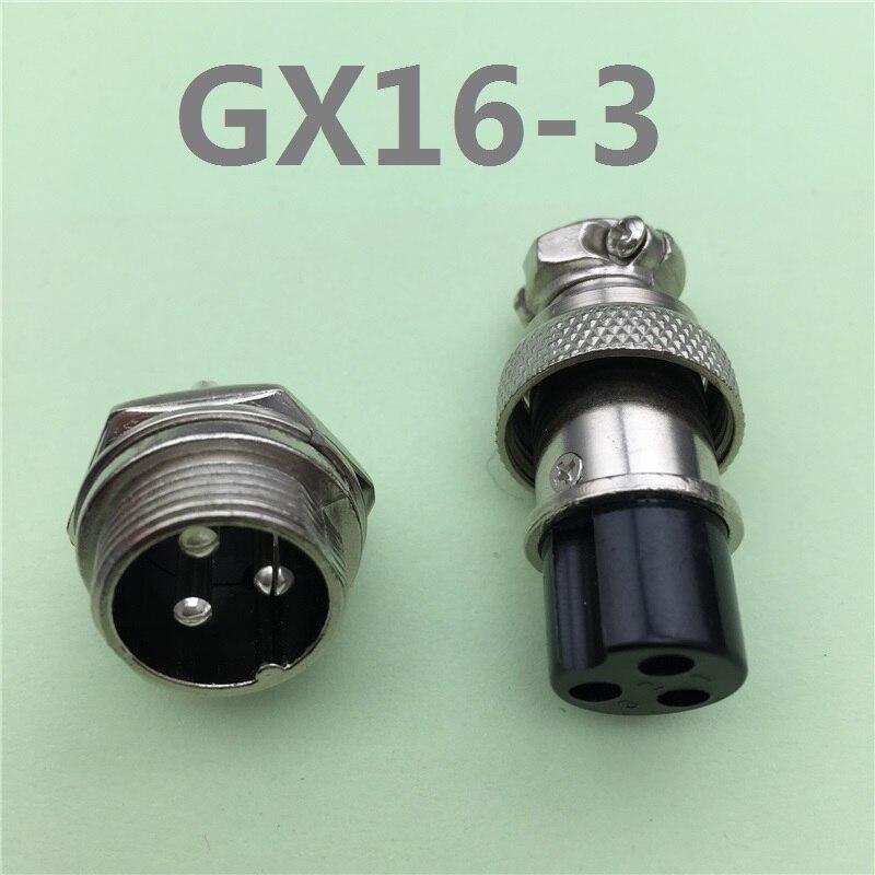 1 КОМПЛ. gx16 3 контактный разъем & женский диаметр 16 мм проволока панель разъемов gx16 l71 круглые соединитель авиации разъем бесплатно доставка