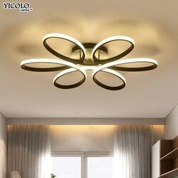 Bianco/Nero/caffè Moderna LED lampadario per soggiorno camera da letto sala da pranzo corpo in alluminio Dimming illuminazione domestica luminarias dero