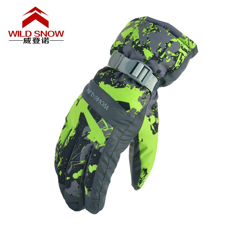 Women Men Ski Gloves Waterproof Windproof Warm Skiing Snowboard Gloves Snowmobile Motorcycle Riding Winter Outdoor Snow Gloves
