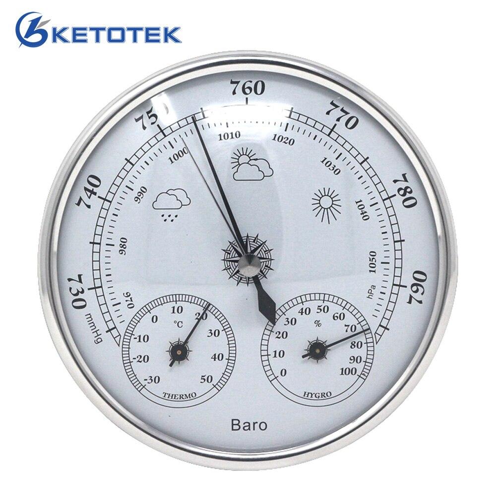 Temperatura humedad presión atmosférica Monitor 3 en 1 estación meteorológica termómetro higrómetro barómetro