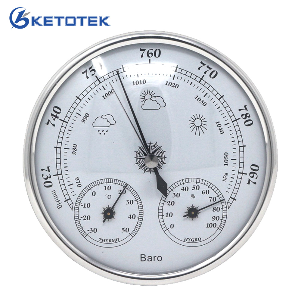 Temperature Humidity Atmospheric Pressure Monitor Meter 3 in 1 Weather Station Household Thermometer Hygrometer Barometer