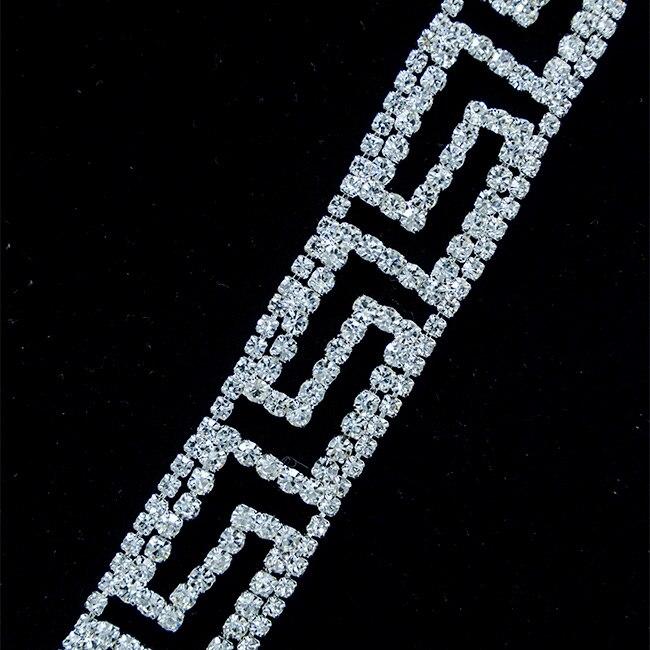 10Yards 25mm crystal rhinestone trims gold silver chain Costume Applique Sew On Rhinestone Wedding Dress Decoration