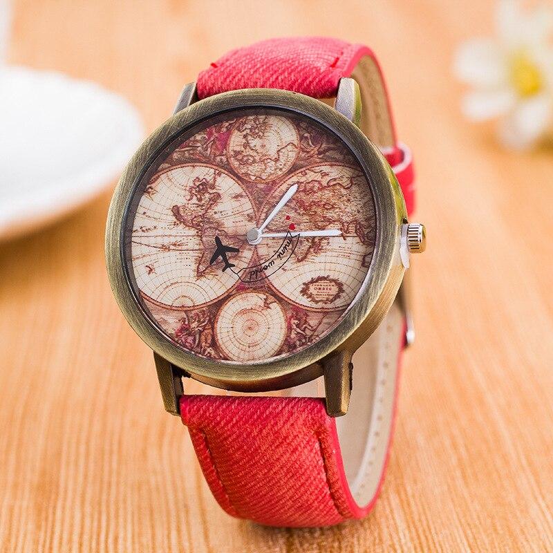 Isuper Store Fashion Global Travel Men Women Watches Denim Quartz Watch Casual Sports Watches for Boy Girl Relogio Feminino