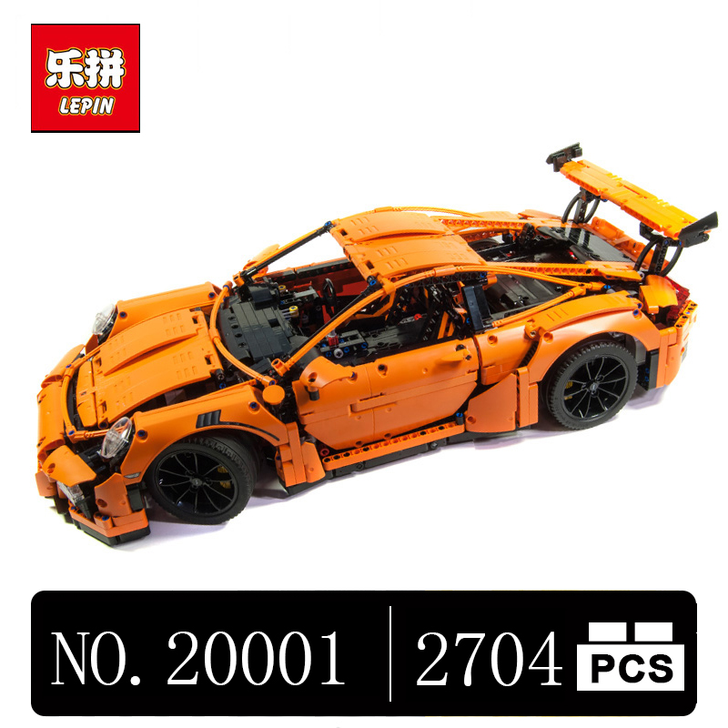 DHL LEPIN 20001 technic series Race Car Model Building Kits Blocks Bricks Compatible 42056 Boys Gift Educational Toys lepin 21003 series city car classical travel car model building blocks bricks compatible technic car educational toy 10252