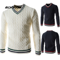 Fashion Designer Men Cashmere Sweaters New Brand V Neck Pullovers Shirts Cashmere And Wool Pullover Male