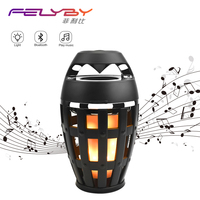 FELYBY Hot flame atmosphere lamp wireless bluetooth speaker portable high quality speakers for computer phone laptop tablet
