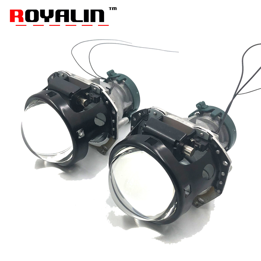 ROYALIN Black Metal Hella 3R G5 Car Styling Bi Xenon Headlights Projector Universal Auto HID D2S D2H Lamp Hi/lo Retrofit Lens new m803 2 5 car motorcycle universal headlights hid bi xenon projector kit and m803 hid projector lens for free shipping