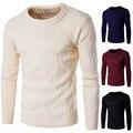 2016 outono e inverno homem camisola sólida grosso tricô quente roupas men's camisola Y260