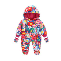 Baby Rompers Winter Thick Warm Baby Boy Clothing Long Sleeve Hooded Jumpsuit Infant Baby Girls Clothes