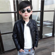High Quality Boys Girls PU Leather Jacket 2016 Autumn Spring Winter New baby boy clothes Children Kids Casual Coat Outerwear