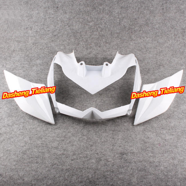 Unpainted Upper Front Cover Cowl Nose Fairing for Kawasaki 10-13 KZ1000 2010 2011 2012 2013,  Injection Mold ABS Plastic unpainted front nose top fairing for triumph daytona 675 2009 2012 10 11 upper cowl