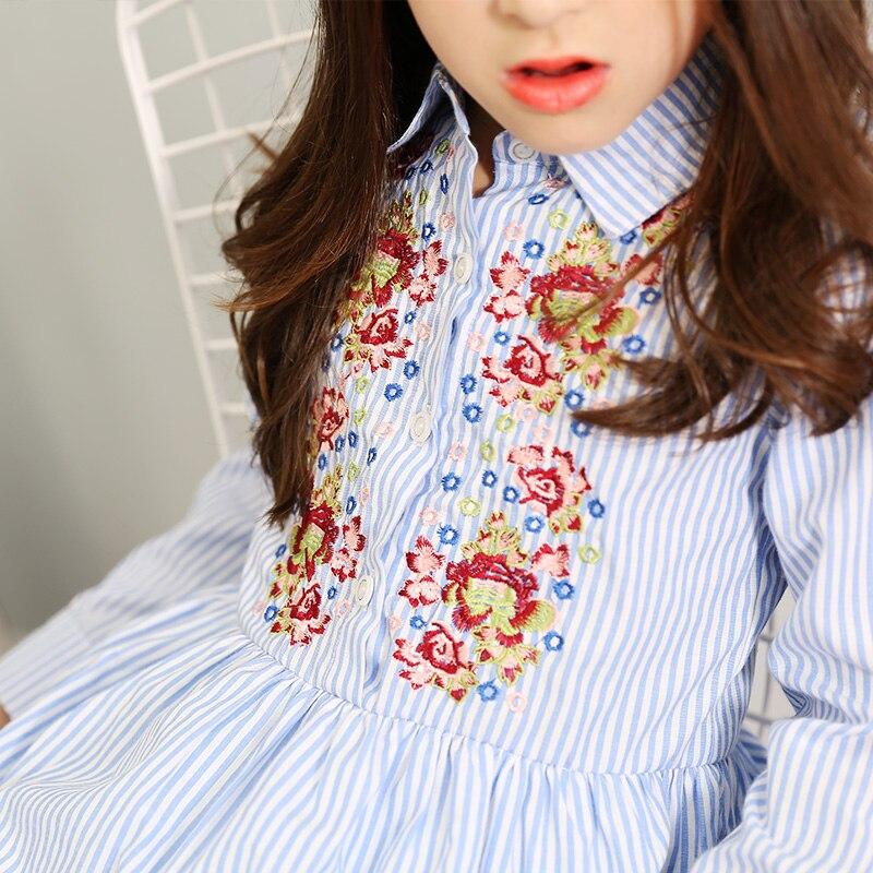 5b29c3cd44 Gyerekek ruhák lányoknak Princess ruha hímzés csíkos lány ruhák ...