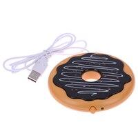 Creative Giant Donut USB Cup Warmer Hot Cookie Mug Warmer Coaster Office Tea Coffee Beverage USB