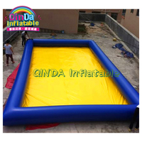Commercial above ground inflatable adult swimming pool with slide water toys for summer event