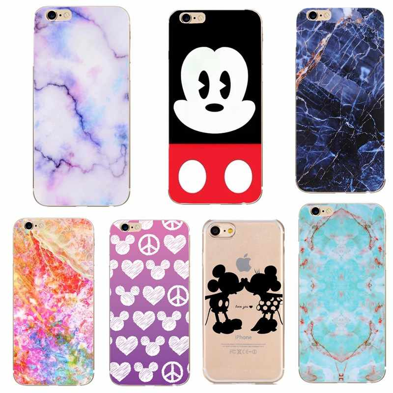 another chance large discount lowest price Marble Phone Case For iphone xs max x xr Cases Soft Silicone Funny Mickey  Minnie Mouse Women For iphone XS Back Cover Coque Capa