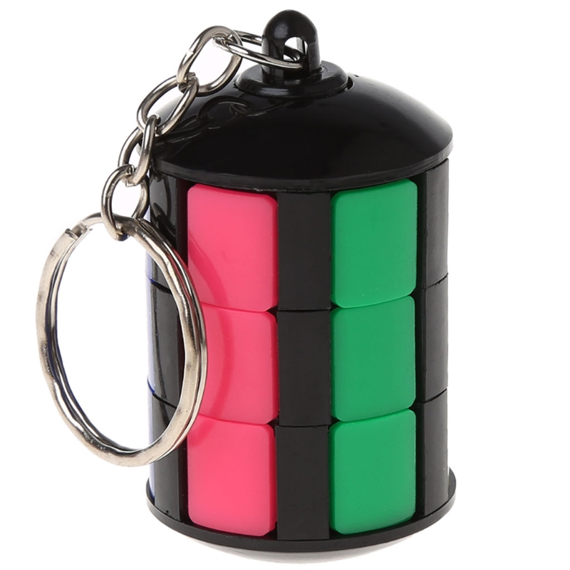 Smart Tower Blocks Pendants Puzzle Educational Toy Magic Cube Keychain