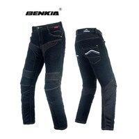Benkia Мотоцикл Джинсы Мото Гонки джинсовые брюки мотоцикл Мотокросс Off Road Колено защитные мото джинсы мотоцикл брюки