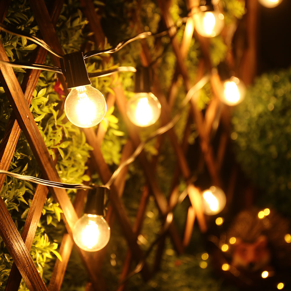 Holigoo g40 led bulb outdoor globe string lights vintage hanging holigoo g40 led bulb outdoor globe string lights vintage hanging outdoor lighting weatherproof light string for patio garden in lighting strings from lights mozeypictures Image collections
