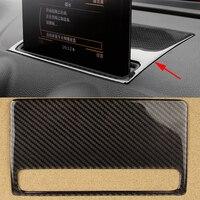 100% Настоящее углеродное волокно Стайлинг приборной панели автомобиля навигационная рамка Панель наклейка Внутренняя крышка отделка полос...