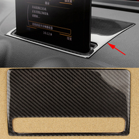 100% Real Carbon Fiber Styling Car Dashboard Navigation Frame Panel Sticker Interior Cover Trim Strip For Audi A3 8V 2014 16