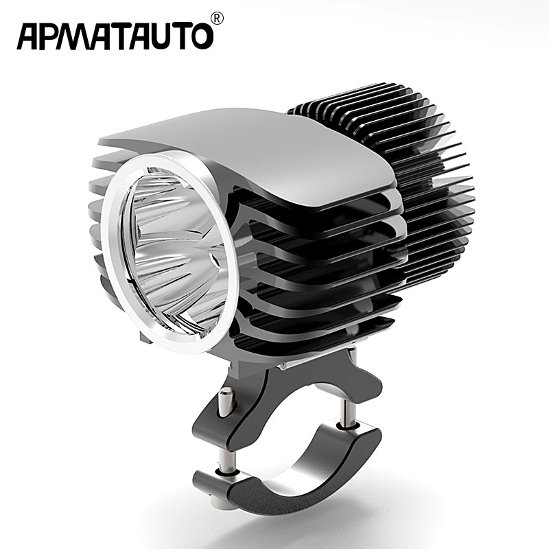 Apmatauto 1x LED Car External Headlight 18W 15W 10W 6W White High/Low Motorcycle DRL Headlamp Spotlight Drive Fog Spot Lights