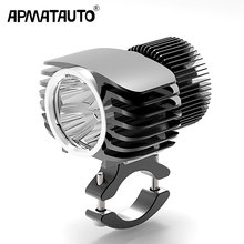 Apmatauto 1x LED Car External Headlight 18W 15W 10W 6W White High/Low Motorcycle DRL Headlamp Spotlight Drive Fog Spot Lights
