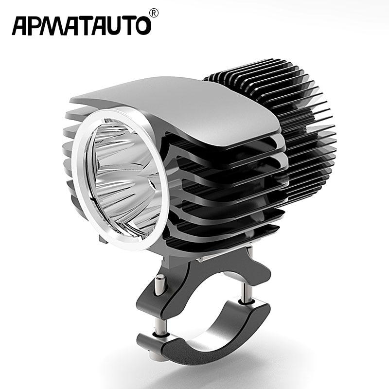 Apmatauto 1x LED De Voiture Externe Phare 18 w 15 w 10 w 6 w Blanc Haut/Bas Moto DRL projecteur Projecteur Lecteur Spots Brouillard