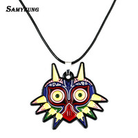Samyeung 2017 Newest Zelda Necklaces for Male Leather Chain Owl Necklace Femme Neckless Friendship Bird Cosplay Anime Jewelry