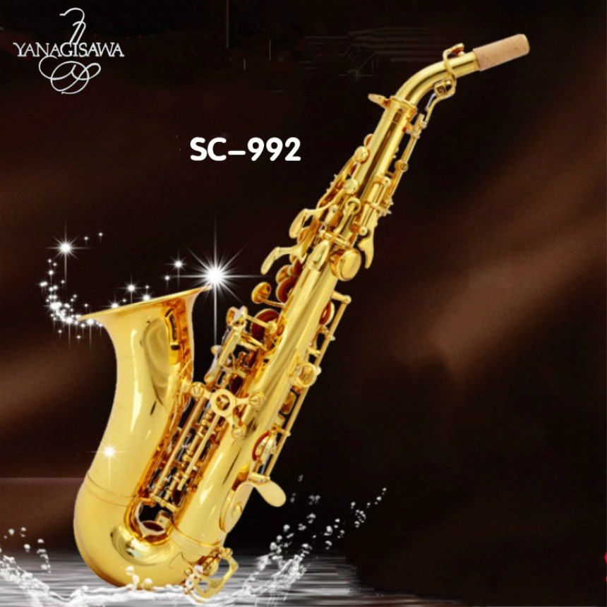 YANAGISAWA Brands Soprano S-992 B flat Sax High quality musical instruments Super Professional Case Mouthpiece Soprano Saxophone yanagisawa soprano saxophone b flat electrophoresis gold top musical instruments sax soprano professional grade free shipping